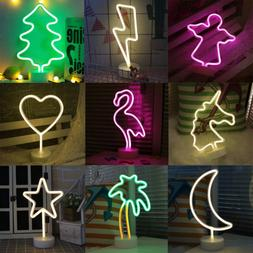LED Neon Sign Lamp Background Night Light Xmas Wedding Room