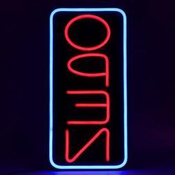 Vertical Neon Open Sign Light 1.2W 12L 22H Display Hanging D