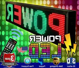 """LED Sign 40"""" X 15"""" Outdoor Programmable Scroll Message Board"""