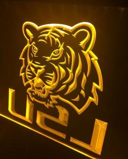 LSU TIGERS LED Neon Sign for Game Room,Office,Bar,Man Cave.