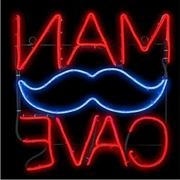 Man Cave Mustache Neon LightGlo Sign