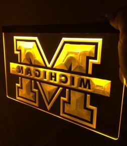 Michigan Wolverines Logo LED Neon Sign for Game Room,Office,