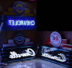 My Group of THREE Art Deco Neon Signs Chevelle Corvette CHEV