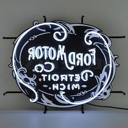 Neon sign FoMoCo GT Ford Motor Company Trucks Detroit 1903 V