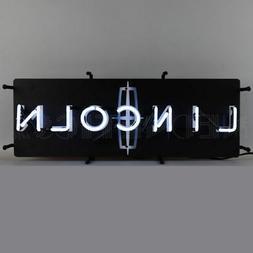 Neon sign  Ford V8 oval Huge sign full steel black metal can