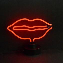 Neon sign sculpture 5:00 Tiki Bar Head table shelf lamp some