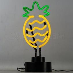 Pineapple Neon sign sculpture table lamp light Tropical Tiki