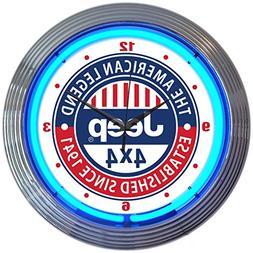 Neonetics Jeep The American Legend Clock, 15 Inch Diameter w