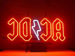 """New AC DC Black In Black Music Neon Sign 17""""x14"""""""