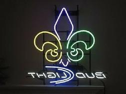New Budweiser Bud Light New Orleans Saints Logo Neon Sign 20
