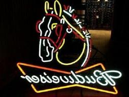 """New Budweiser Clydesdale Horse Neon Sign 32""""x24"""""""