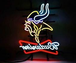 "New Budweiser Minnesota Vikings Neon Sign 32""x24"""