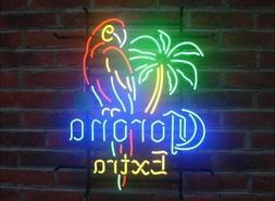 """New Corona Extra Parrot Palm Tree Neon  Sign 20""""x16"""" Ship Fr"""