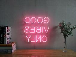 New Good Vibes Only Neon Sign For Bedroom Wall Home Decor Ar