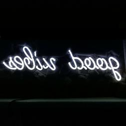 New Good Vibes White Bar Light Lamp Artwork Handmade Acrylic