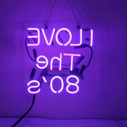 New I Love 80'S Handmade Acrylic Light Lamp Neon Sign 17""