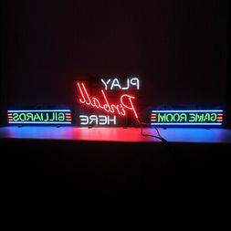 Wholesale ot of 4 Billiards Pool room neon sign game room ta
