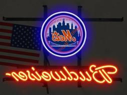 """New York Mets Budweiser Neon Sign 17""""x14"""""""