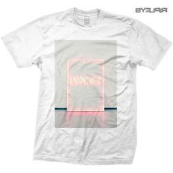 Official T Shirt THE 1975 Rock Band  White Neon Sign All Siz