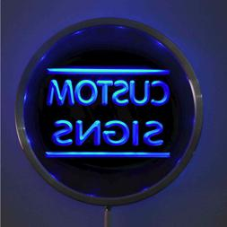 Round Circle Custom Neon Sign Light Up Letters Man Cave Room