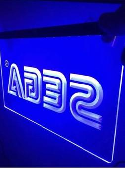 SEGA ARCADE Video Game LED NEON LIGHT SIGNS ManCave Game Roo