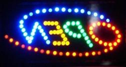 Super Bright Multi Color Rainbow Open Led Neon Business Moti