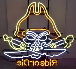 Wholesale lot of 3 Neon Signs Live to ride Motorcycle art Ma