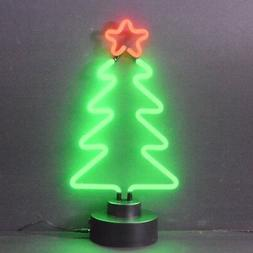 Xmas Tree Christmas real neon sign sculpture lamp table shel