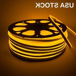 Yellow LED Neon Rope Lights 110V 120V Commercial Flex Tube S