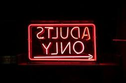 """Adults Only 20""""x16"""" Neon Sign Lamp Bar With Dimmer"""