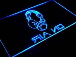 ADVPRO On Air Headphone Headset Studio Bar Beer LED Neon Sig