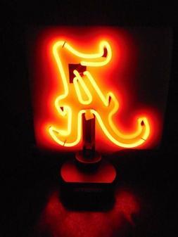 Alabama Crimson Tide Football Neon Logo Desk Lamp Light Sign