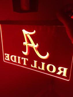 Alabama Crimson Tide LED Neon Sign for Game Room,Office, Man