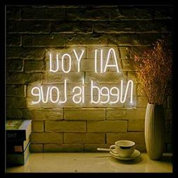 All You Need Is Love LED Neon Sign Lights Art Wall Decorativ