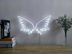Angel Wings Real Glass Neon Sign For Bedroom Garage Bar Man