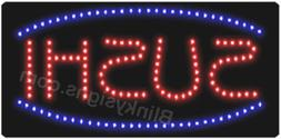 Animated Motion LED Restaurant Business Sushi SIGN On / Off