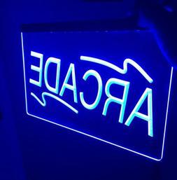 ARCADE ROOM LED Light Neon Sign for Game Room,Office,Bar,Man