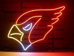 """Arizona Cardinals 17""""x14"""" Neon Sign Lamp Light Glass Bar Dec"""