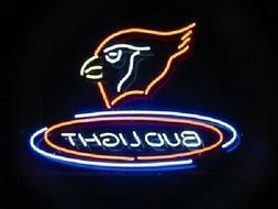 """Arizona Cardinals Bud Light Neon Sign 20""""x16"""" Lamp Glass Bar"""
