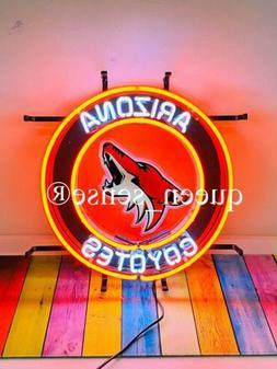 "Arizona Coyotes Neon Sign 17""x17"" with HD Vivid Printing Tec"