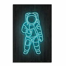 Astronaut by Octavian Mielu, 12x19-Inch Canvas Wall Art