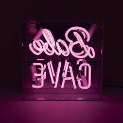Babe Cave Acrylic Box Neon Sign Light Desk Lamp Room Decor V