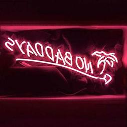 "LiQi NO Bad Days Neon Sign (18.5"" x 8.5"" Large)Real Glas"