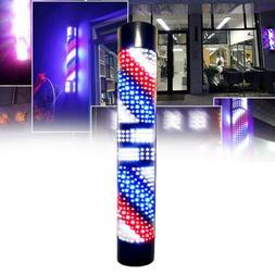 Barber Shop Sign Light Rotating Pole Red/Blue/White LED Hair