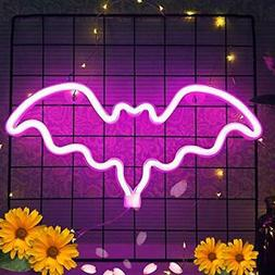 bat neon light led pink neon sign