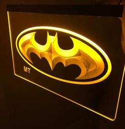BATMAN Signal Led Neon Sign for Game Room,Office,Bar,Man Cav