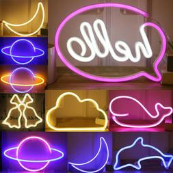 battery powered usb led sign neon lights