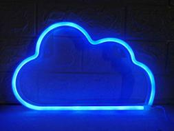 Blue Cloud Light Neon Signs Led Neon Wall Light Battery or U