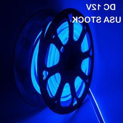 Blue DC12V LED Neon Rope Light Strip Waterproof Commercial S