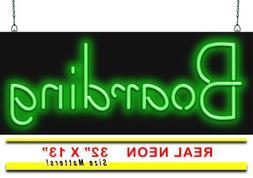 "Boarding Neon Sign | Jantec | 32"" x 13"" | Animals"